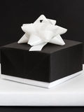 Black and white gift box Stock Photo