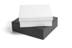 Black and white gift boxes Stock Photography