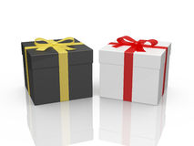 Black and White Gift Boxes Royalty Free Stock Images
