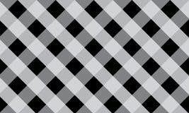 Black and white gingham pattern teblechloth.Vector illustration stock illustration