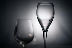 Black and white glasses. Glasses on black and white Royalty Free Stock Photography