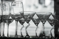 Black and white glasses Royalty Free Stock Images