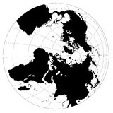 Black & white globe Royalty Free Stock Photo