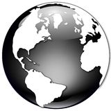 Black and White Globe Illustration Stock Image