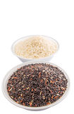 Black And White Glutinous Rice IV Stock Images