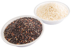 Black And White Glutinous Rice VII Stock Image