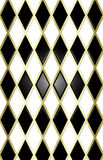 Black/white/gold harliquin background Royalty Free Stock Images