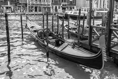Black and white Gondola Royalty Free Stock Photography
