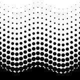 Black and white gorizontal seamless halftone pattern royalty free illustration