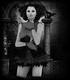 Black and white Gothic portrait Stock Image