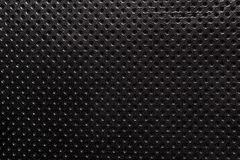 Black and white gradient perforated leather texture background. Skin dots Royalty Free Stock Photo