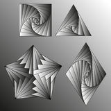 Black and white gradient. Vector drawing Stock Image
