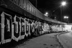 Black and white graffiti Royalty Free Stock Photography