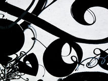 Black and white graffiti background Royalty Free Stock Photo