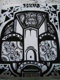 black-and-white-grafitti-2 Royalty Free Stock Photography