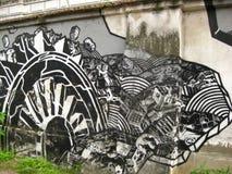 black-and-white-grafitti Royalty Free Stock Image