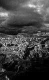 Black and white Grand Canyon Arizona Stock Image