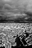Black and white Grand Canyon Arizona Stock Photography