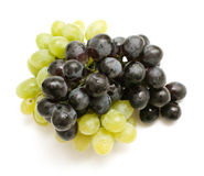 Black and white grapes Royalty Free Stock Photos