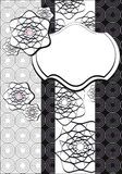 Black and white graphic background Royalty Free Stock Image
