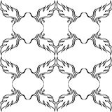 Black and white repeat pattern and vector image Stock Photography