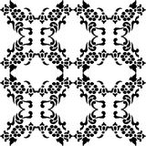 Black and white repeat pattern and vector image Stock Photo