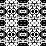 Black and white repeat pattern and vector image Stock Images