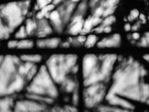 Black and white graphic photo out of focus with contrast boke. Abstract royalty free stock photography
