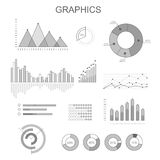 Black and White Graphics Poster with Diagrams Royalty Free Stock Photography