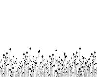 Black and white grass design Royalty Free Stock Photo