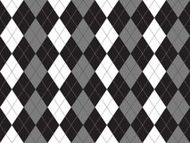 Black white gray argyle textile seamless pattern Royalty Free Stock Photos