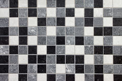 Black, white and gray mosaic tiles. In a bathroom royalty free illustration