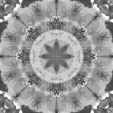 Black and White Grayscale Mandala with art handmade texture. stock photography