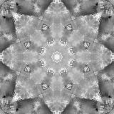 Black and White Grayscale Mandala with art handmade texture. stock photo