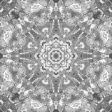 Black and White Grayscale Mandala with art handmade texture. royalty free stock images