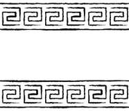 Black and white greek seamless pattern. Black and white greek meander seamless pattern royalty free illustration