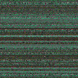 Black, White, Green and Gray Striped Abstract. Background. Vector TV Interference. VHS Glitch Texture Royalty Free Stock Photo