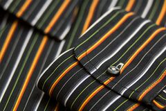Black White Green Yellow and Orange Pinstripe Pocket Stock Photography