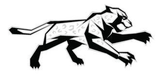 Black, white, grey jaguar Stock Images