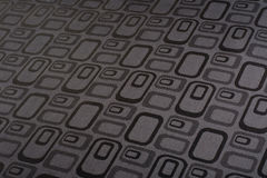 Black- white grid pattern fabric Royalty Free Stock Photography