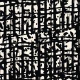 Black white grid pattern. Shibori seamless print. Organic net watercolor background. Tie dye tile. Geometric seamless pattern. Hand drawn japan batik backdrop Stock Image
