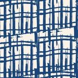 Vector shibori seamless print. Black white grid pattern. Vector shibori line seamless print. Japanese watercolor background. Tie dye tile. Geometric seamless Stock Image