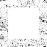 Black and White Grunge Dust Messy Border Frame. Easy To Create Abstract Vintage, Dotted, Scratched Effect With Grain And Noise. Aged Design Element. Black and Royalty Free Stock Photography