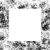 Black and White Grunge Dust Messy Border Frame. Easy To Create Abstract Vintage, Dotted, Scratched Effect With Grain And Noise. Aged Design Element. Black and Stock Photography