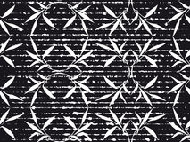 Black and white grunge flowers background Royalty Free Stock Photography
