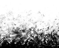 Hand drawn paint daub texture. Black and white grunge hand drawn paint daub texture background for design overlays Royalty Free Stock Photography