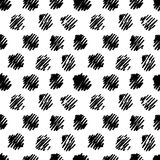 Vintage polka grunge dots seamless pattern Royalty Free Stock Images