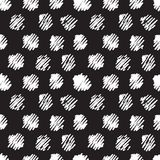Vintage polka grunge dots seamless pattern Stock Images