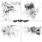 Black and white grunge scratches Royalty Free Stock Image