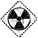 Black and white grunge sign radiation Royalty Free Stock Images